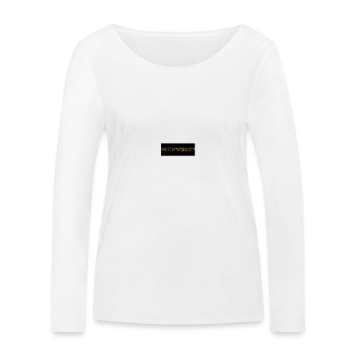 orange writing on black - Women's Organic Longsleeve Shirt by Stanley & Stella