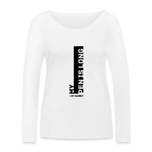PEN IS LONG - Ekologiczna koszulka damska z długim rękawem Stanley & Stella