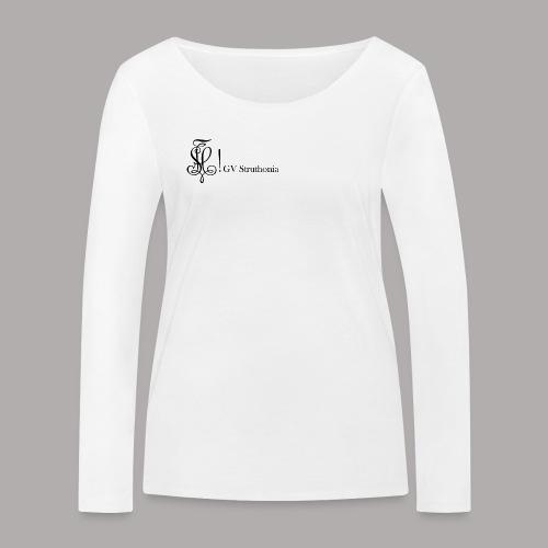 Zirkel mit Name, schwarz (vorne) - Frauen Bio-Langarmshirt von Stanley & Stella