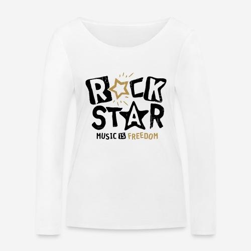 rock star music freedom - Frauen Bio-Langarmshirt von Stanley & Stella