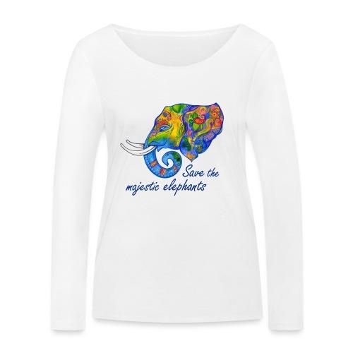 Save the majestic elephants - Frauen Bio-Langarmshirt von Stanley & Stella
