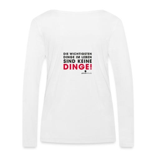 Motiv DINGE schwarze Schrift - Frauen Bio-Langarmshirt von Stanley & Stella