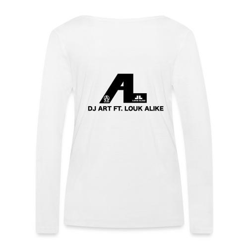 DJ Art ft. Louk Alike (lichte pull-kleuren) - Vrouwen bio shirt met lange mouwen van Stanley & Stella