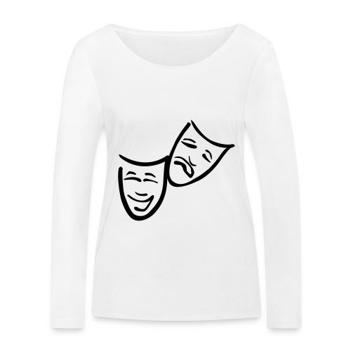 Theatermasken - Frauen Bio-Langarmshirt von Stanley & Stella