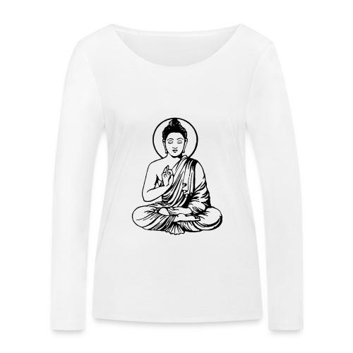 Buddha-Vektor-Outline - Frauen Bio-Langarmshirt von Stanley & Stella