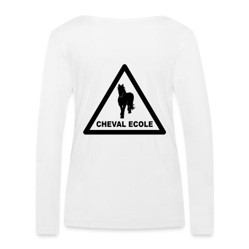 chevalecoletshirt - T-shirt manches longues bio Stanley & Stella Femme