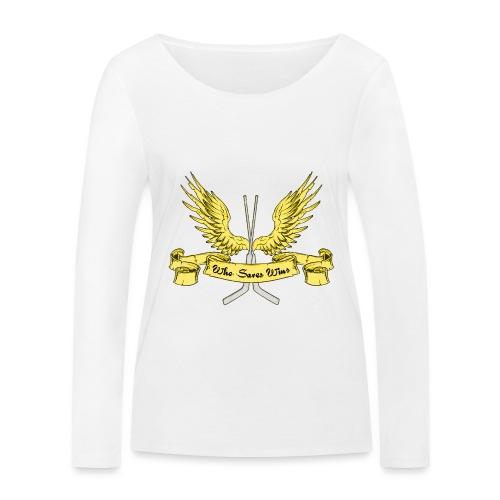 Who Saves Wins, Hockey Goalie - Women's Organic Longsleeve Shirt by Stanley & Stella