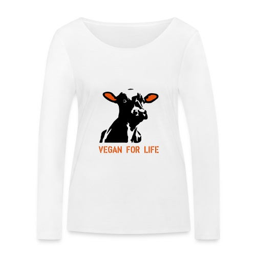 colorida vegan for life - Frauen Bio-Langarmshirt von Stanley & Stella