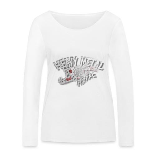 heavy metal fishing white - Frauen Bio-Langarmshirt von Stanley & Stella