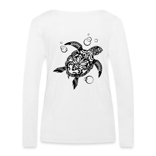 Watchful Turtle - Women's Organic Longsleeve Shirt by Stanley & Stella