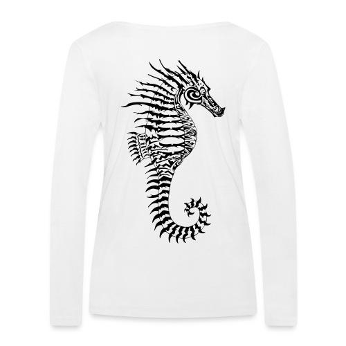 Alien Seahorse Invasion - Women's Organic Longsleeve Shirt by Stanley & Stella
