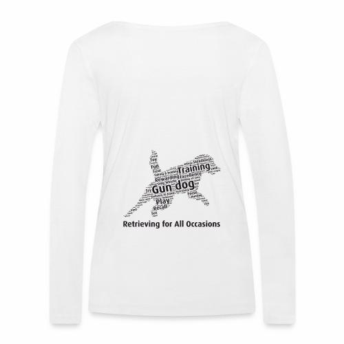 Retrieving for All Occasions wordcloud svart - Ekologisk långärmad T-shirt dam från Stanley & Stella