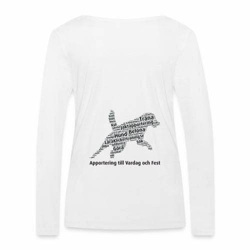 Apportering till vardag och fest wordcloud svart - Ekologisk långärmad T-shirt dam från Stanley & Stella
