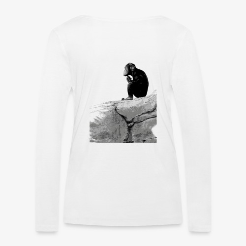 Music Monkey - Women's Organic Longsleeve Shirt by Stanley & Stella