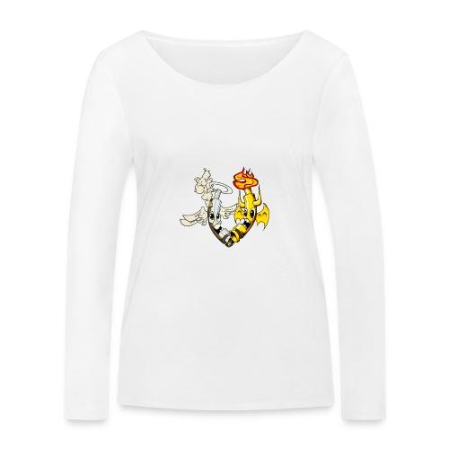 engel_teufel_color_ohne_s - Frauen Bio-Langarmshirt von Stanley & Stella