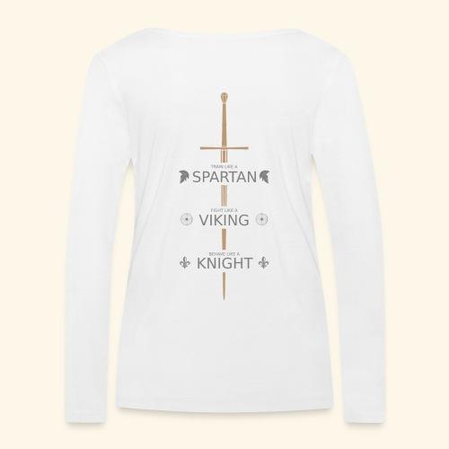 Spartan Viking Knight GRAU - Frauen Bio-Langarmshirt von Stanley & Stella