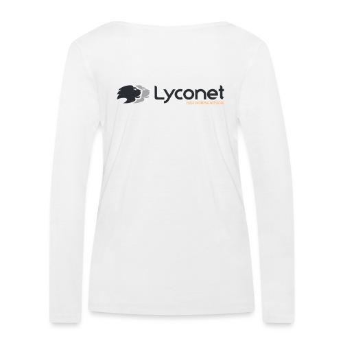 Lyconet White - Maglietta a manica lunga ecologica da donna di Stanley & Stella