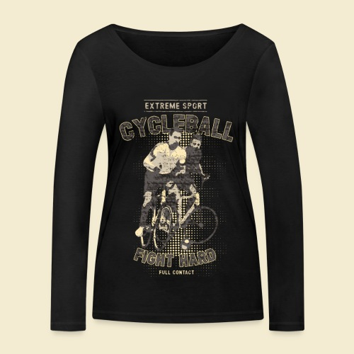 Radball   Fight Hard - Frauen Bio-Langarmshirt von Stanley & Stella