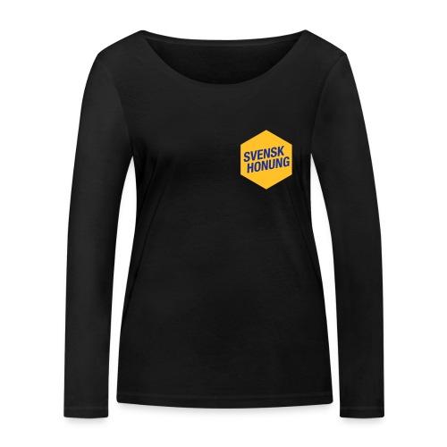 Svensk honung Hexagon Gul/Blå - Ekologisk långärmad T-shirt dam från Stanley & Stella