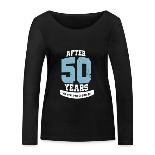 Ü50 Über 50 Jahre 50th - first - Frauen Bio-Langarmshirt von Stanley & Stella