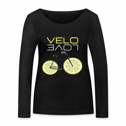 Lemon Bike Shirt Velo Love Shirt Radfahrer Shirt - Frauen Bio-Langarmshirt von Stanley & Stella