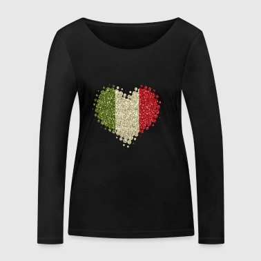I love Italy - Home Tradition Pride glitter - Women's Organic Longsleeve Shirt by Stanley & Stella