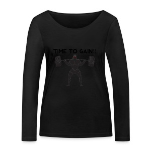 TIME TO GAIN! by @onlybodygains - Women's Organic Longsleeve Shirt by Stanley & Stella