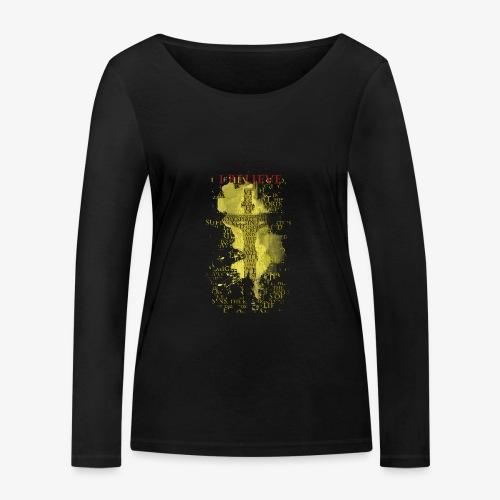 I believe / wierzę (yellow-żółty) - Ekologiczna koszulka damska z długim rękawem Stanley & Stella