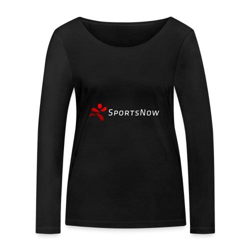 SportsNow-Logo mit weisser Schrift - Frauen Bio-Langarmshirt von Stanley & Stella