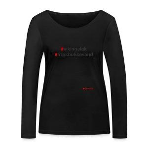 Hashtag - Økologisk Stanley & Stella langærmet T-shirt til damer