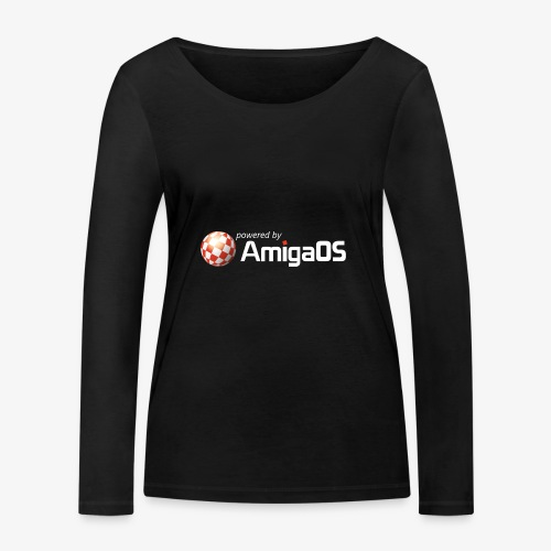 PoweredByAmigaOS white - Women's Organic Longsleeve Shirt by Stanley & Stella