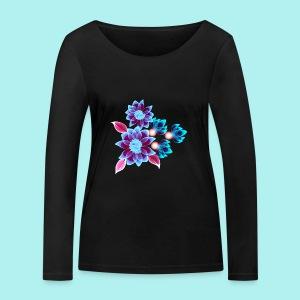 Hypnotic flowers - T-shirt manches longues bio Stanley & Stella Femme