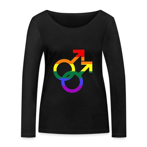 Gay Men Sign - Frauen Bio-Langarmshirt von Stanley & Stella