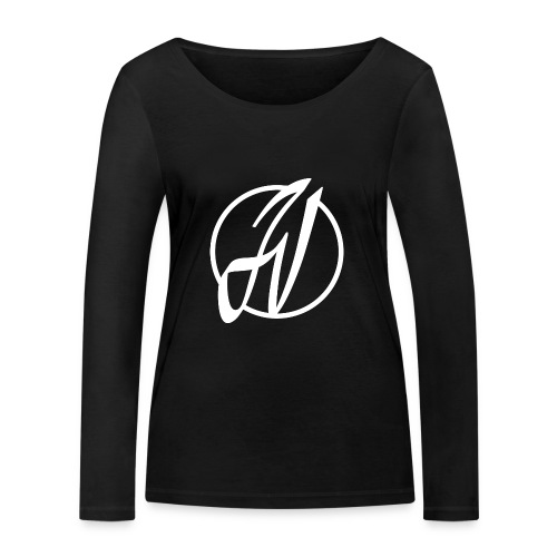 JV Guitars - logo blanc - T-shirt manches longues bio Stanley & Stella Femme