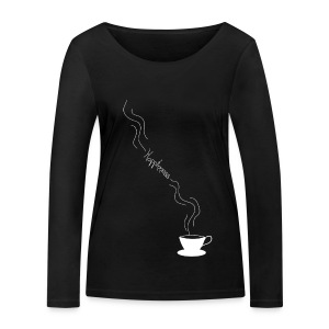 Coffee is happiness - Camiseta de manga larga ecológica mujer de Stanley & Stella