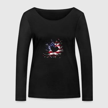 ILove USA - Women's Organic Longsleeve Shirt by Stanley & Stella