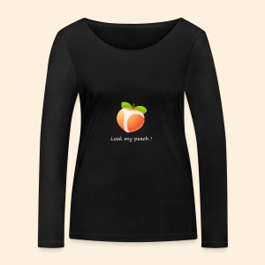Look my peach in white - Women's Organic Longsleeve Shirt by Stanley & Stella