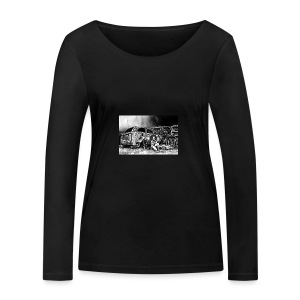 Scarlett Bush hiding from Zombies in Virginia - Women's Organic Longsleeve Shirt by Stanley & Stella
