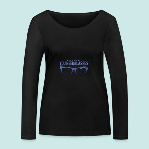 Need Glasses - Blue - T-shirt manches longues bio Stanley & Stella Femme