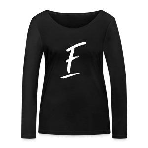 Radio Fugue F Blanc - T-shirt manches longues bio Stanley & Stella Femme