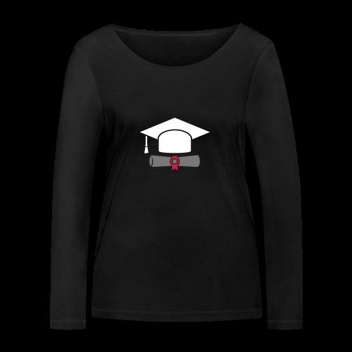 Doktorhut mit Zeugnis - Geschenk zum Abschluss - Frauen Bio-Langarmshirt von Stanley & Stella