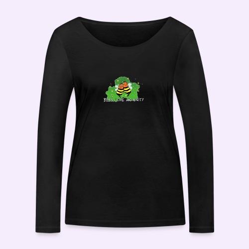 Bees Love and Unity - Frauen Bio-Langarmshirt von Stanley & Stella