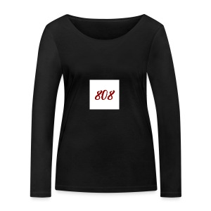808 red on white box logo - Women's Organic Longsleeve Shirt by Stanley & Stella