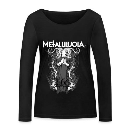 Metalliluola logo ja Demoniac 666 - Stanley & Stellan naisten pitkähihainen luomupaita