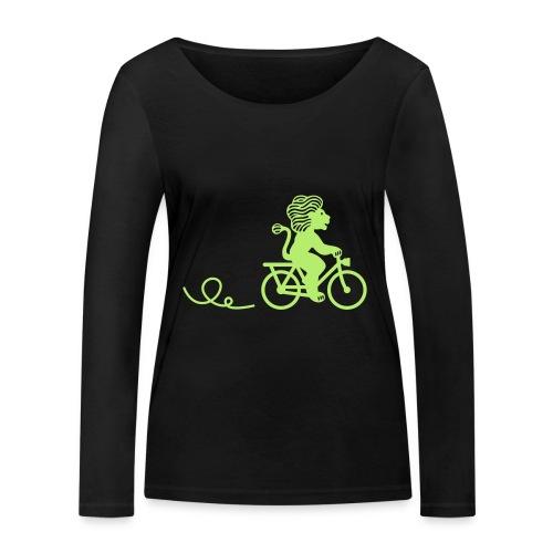 Züri-Leu beim Velofahren ohne Text - Frauen Bio-Langarmshirt von Stanley & Stella