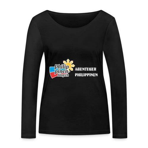 Philippinen-Blog Logo deutsch schwarz/weiss - Frauen Bio-Langarmshirt von Stanley & Stella