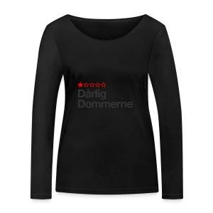 Dårligdommerne Sort tekst - Økologisk Stanley & Stella langærmet T-shirt til damer