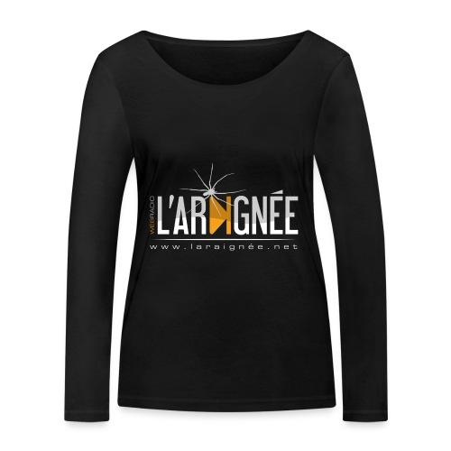 L'Araignée, le logo clair pour fond foncés - T-shirt manches longues bio Stanley & Stella Femme