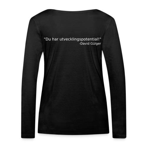 Ju jutsu kai förslag 1 version 1 vit text - Ekologisk långärmad T-shirt dam från Stanley & Stella