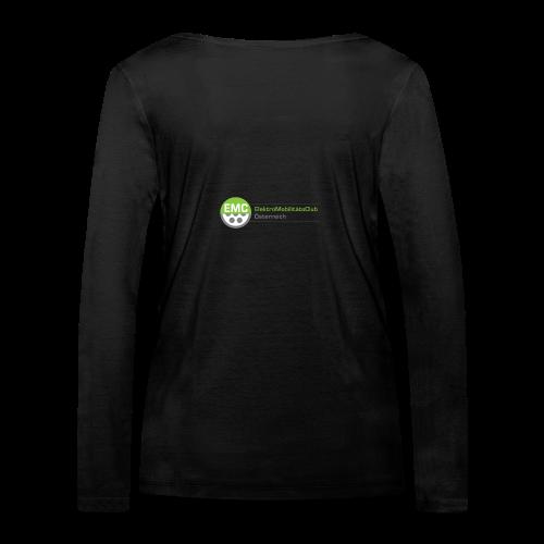 ElektroMobilitätsClub Logo - Frauen Bio-Langarmshirt von Stanley & Stella